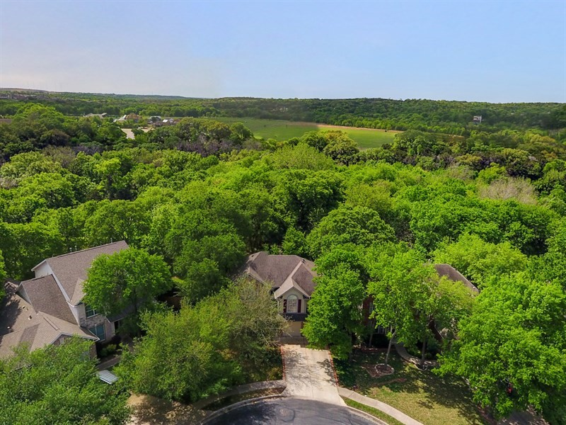 Aerial View 1556 Payton Falls Dr Austin TX 78754